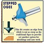 Ogee Stepped Shear Cut Bit