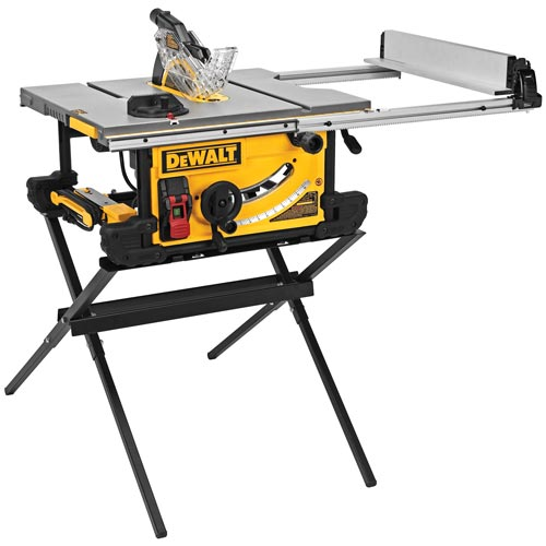 Dewalt Dwe7490x Table Saw With Scissor Stand