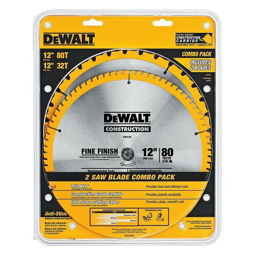 Dewalt Dw3128p5 Saw Blade Combo Pack 12 Quot 32t 80t