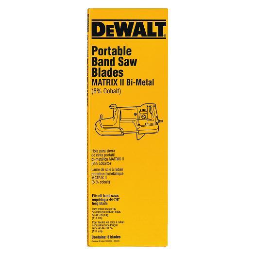 Dewalt Dw3984c Cordless Portable Band Saw Blades 24 Tpi