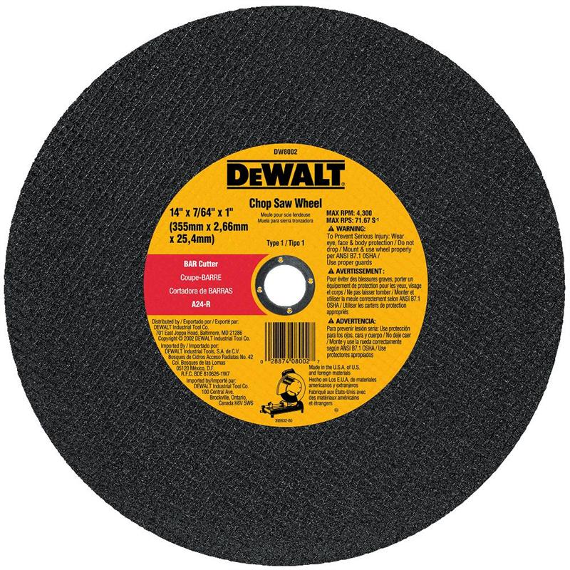 DeWalt DW8002 Metal Chop Saw Wheel 14