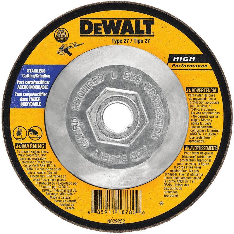 DeWalt DW8415 Stainless Steel Grinding Wheel 4 1 2 X 5 8