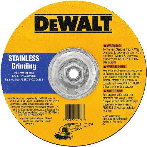 DeWalt DW8458H Stainless Steel Cutting Wheel 9 X 5 8 11