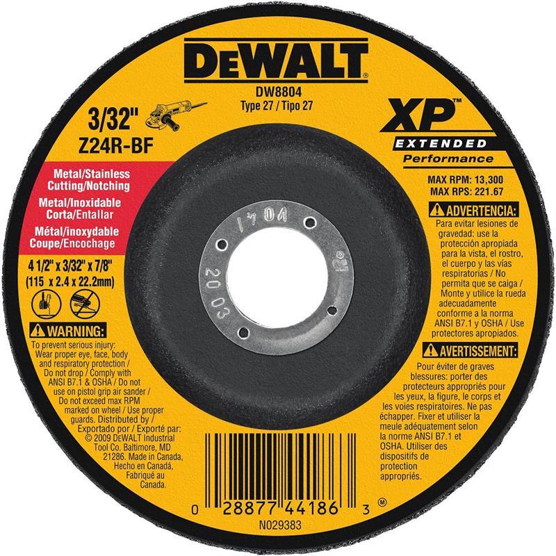 DeWalt DW8804 Metal Cutting Notching Wheel 4 1 2