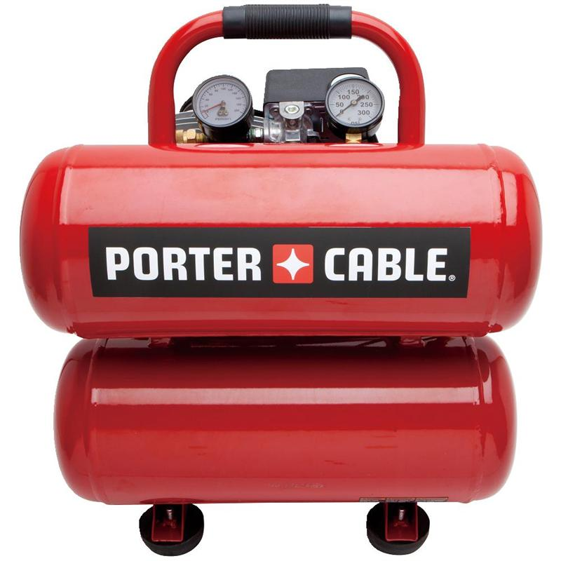 Porter Cable Pcfp02040r 4 Gallon Twin Stack Air Compressor