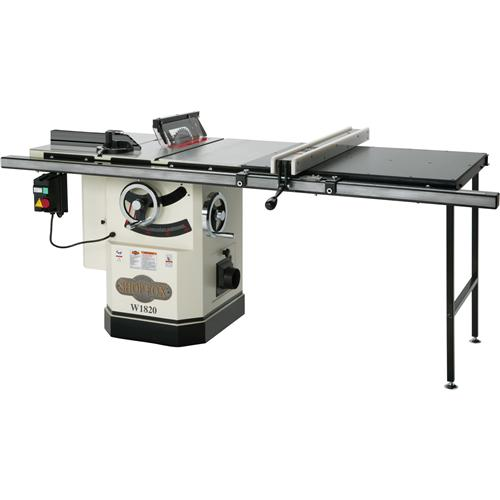 fox w1820 cabinet saw w riving knife long rails previous in table saws ...