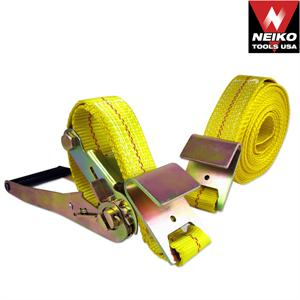"2"" x 27' Ratchet Tie Down, Flat Hook"