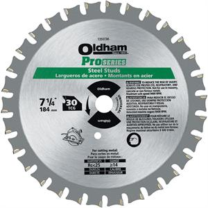 Commercial 7-1/4-Inch 30 Tooth TCG Steel Stud Cutting Saw Blade