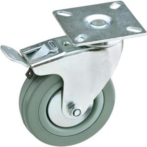 "3"" Swivel Gray Rubber Caster"