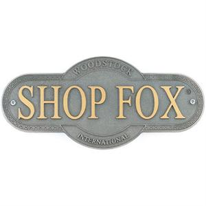 Shop Fox Nameplate Large