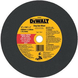 "Metal Chop Saw Wheel 12"" x 1"""