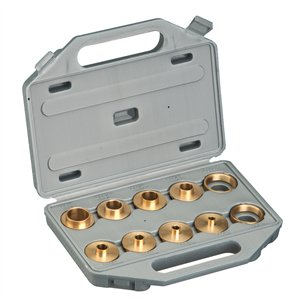 Shop fox d3117 router brass guide bushing set for How to use router template guide bushings