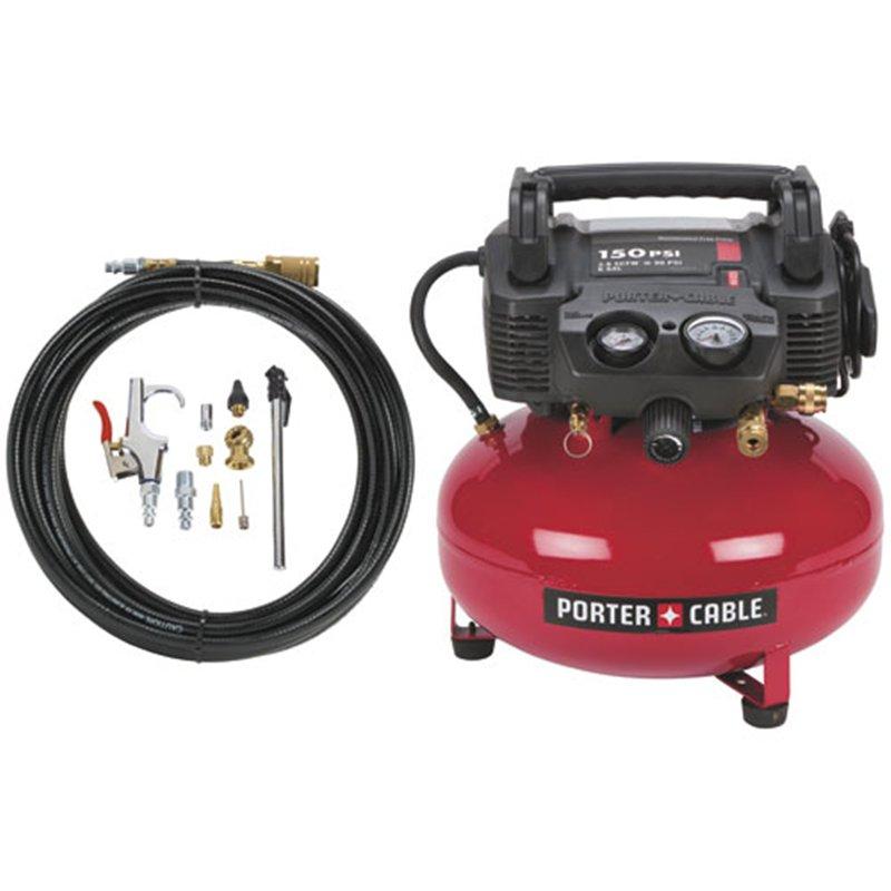 Porter Cable C2002 Wk Pancake Compressor W Accessory Kit