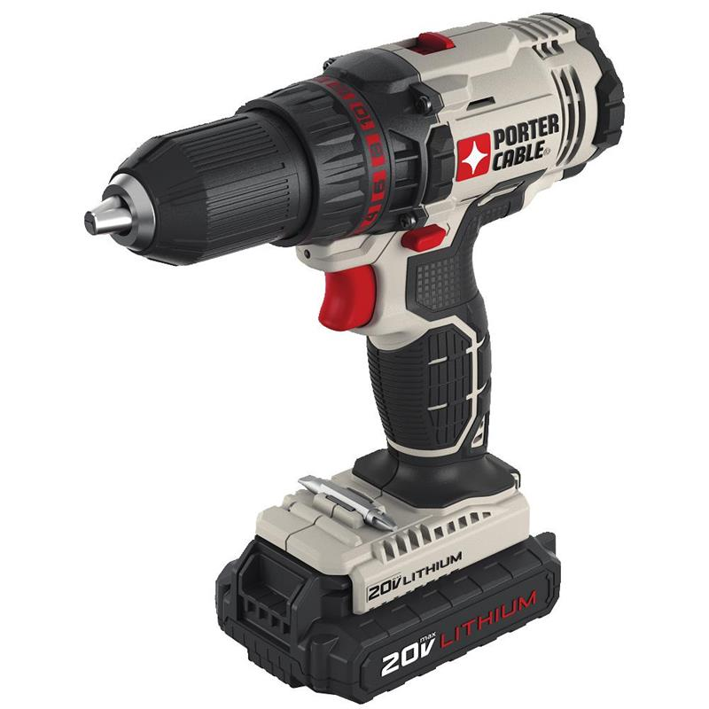 Porter Cable PCC601LBR 20V Lithium 2-Speed Drill/Driver