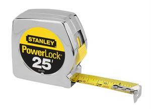 "4ct., 25' x 1"" Chrome PowerLock Tape Rule"