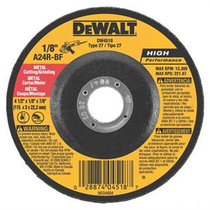 DeWalt DW4518 Metal Cutting-Grinding Wheel 4-1/2""