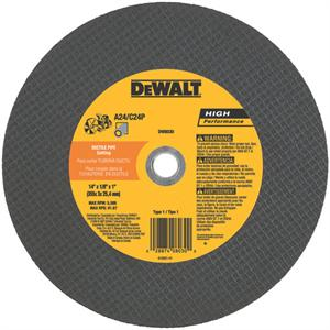 DeWalt DW8030 Ductile Pipe Cutting Wheel 14""