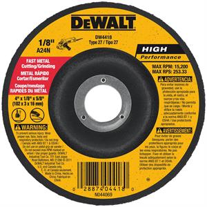 Metal Cutting - Grinding Wheel 4""