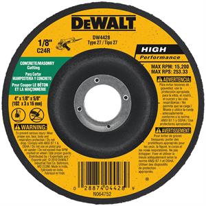 "DeWalt DW8405 4-1//2/"" x 1//4/"" x 5//8/""-11 Aluminum Grinding Wheel"