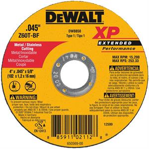 "Metal Cutting Wheel 4"" x 5/8"""
