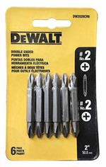 DeWalt DW2028CR6 #2 Phillips Double-ended Screwdriver Bit 6 Pack